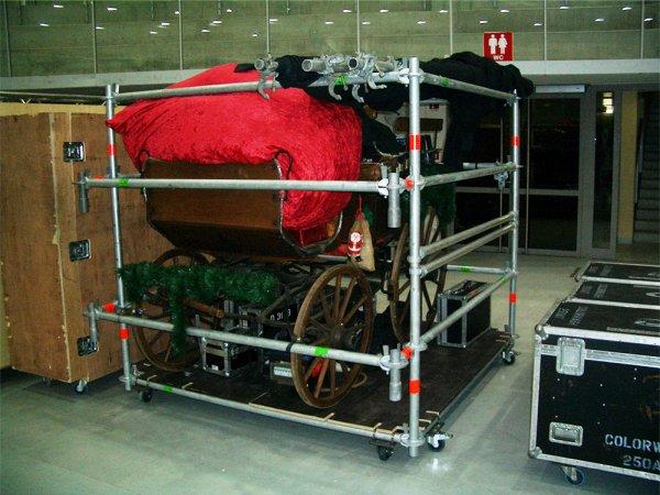 Layher-Wagen (zum Transport einer Kutsche/Deko)
